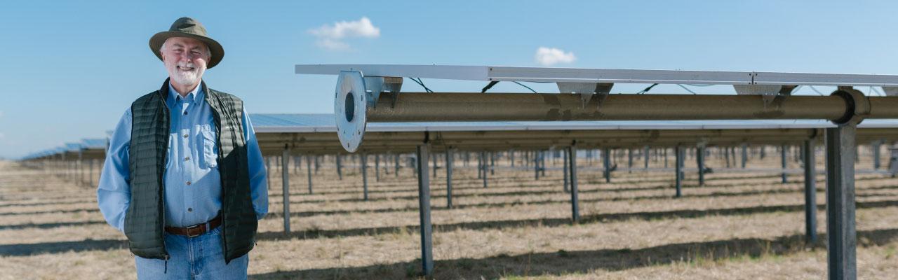 photo of solar farmer
