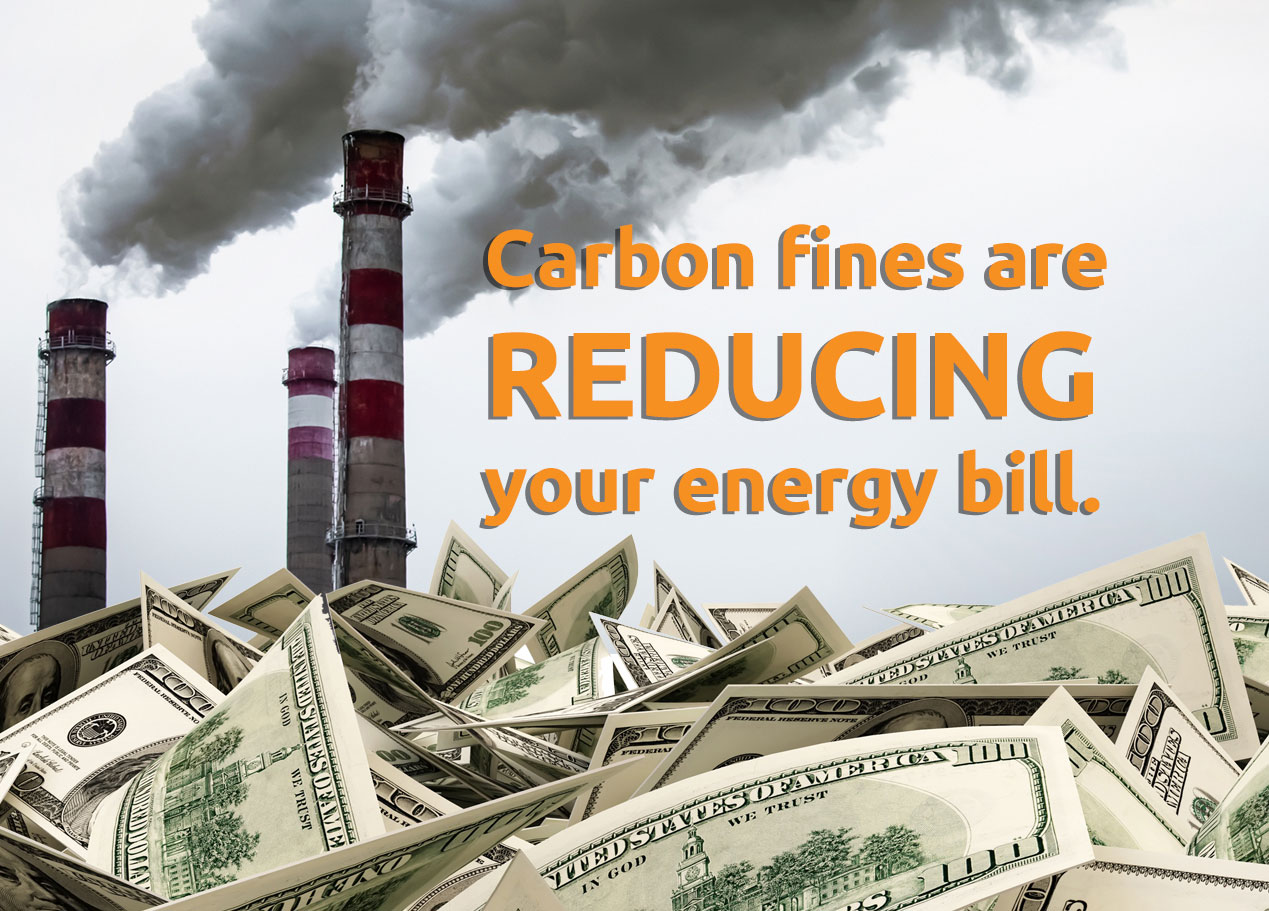 Look for your climate credit in October utility bills.